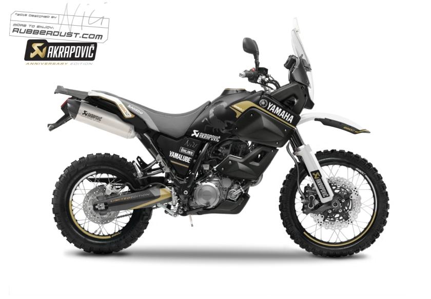 Yamaha XT660Z Ténéré Akrapovic Ruberdust