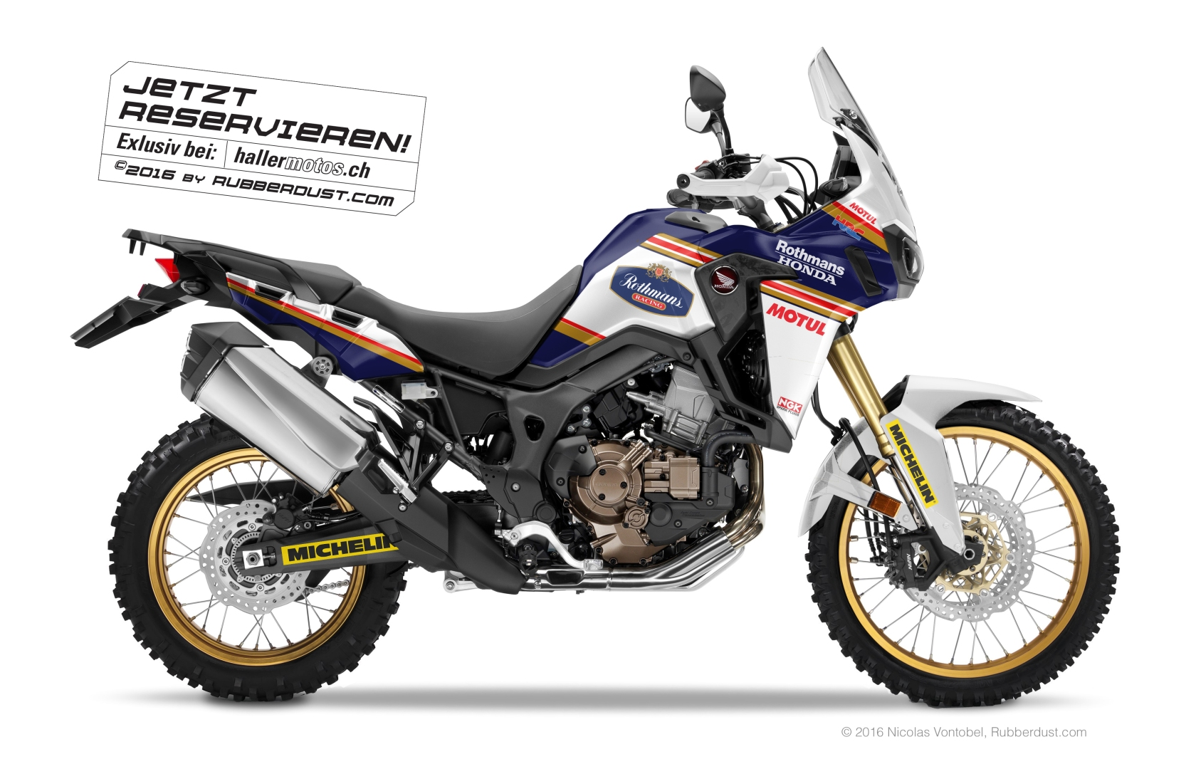 2016 honda africa twin crf 1000 l rothmans design. Black Bedroom Furniture Sets. Home Design Ideas